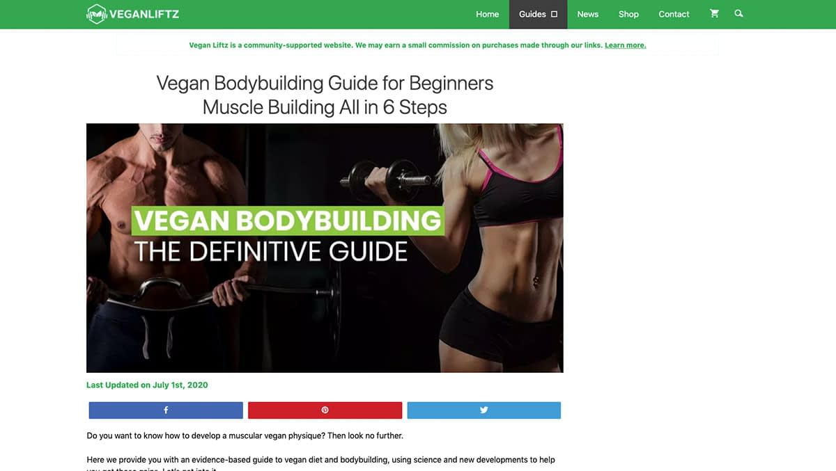 Vegan Bodybuilding Guide for Beginners The Definitive Guide