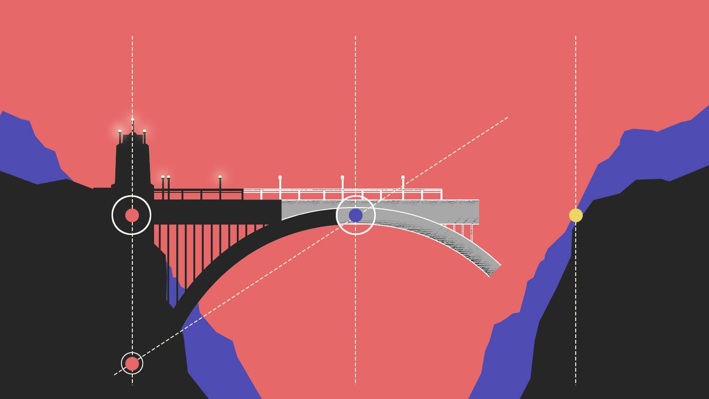 Development of The Vegan Bridge Technique over the canyon