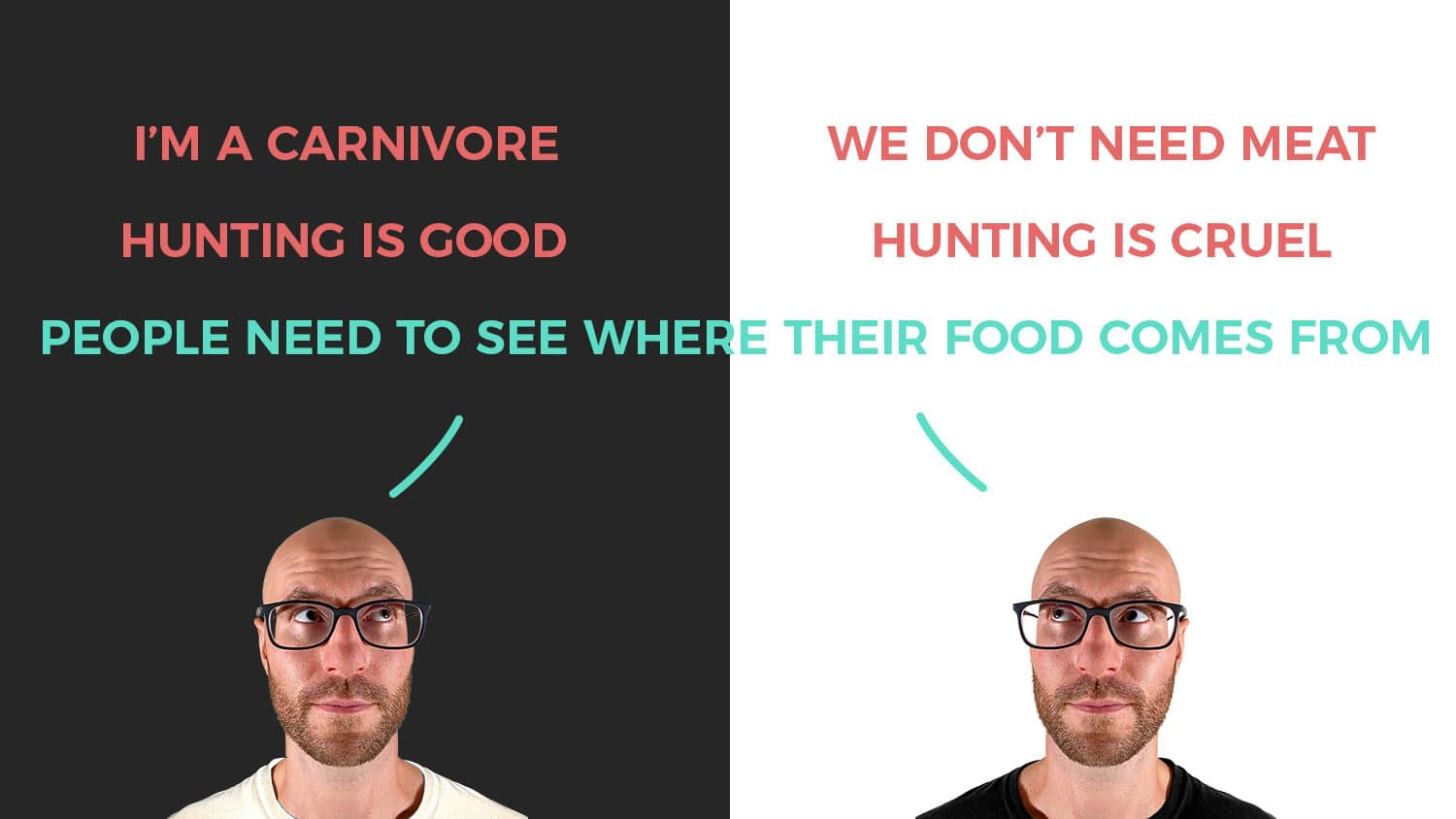 Rich finding common ground when talking about veganism