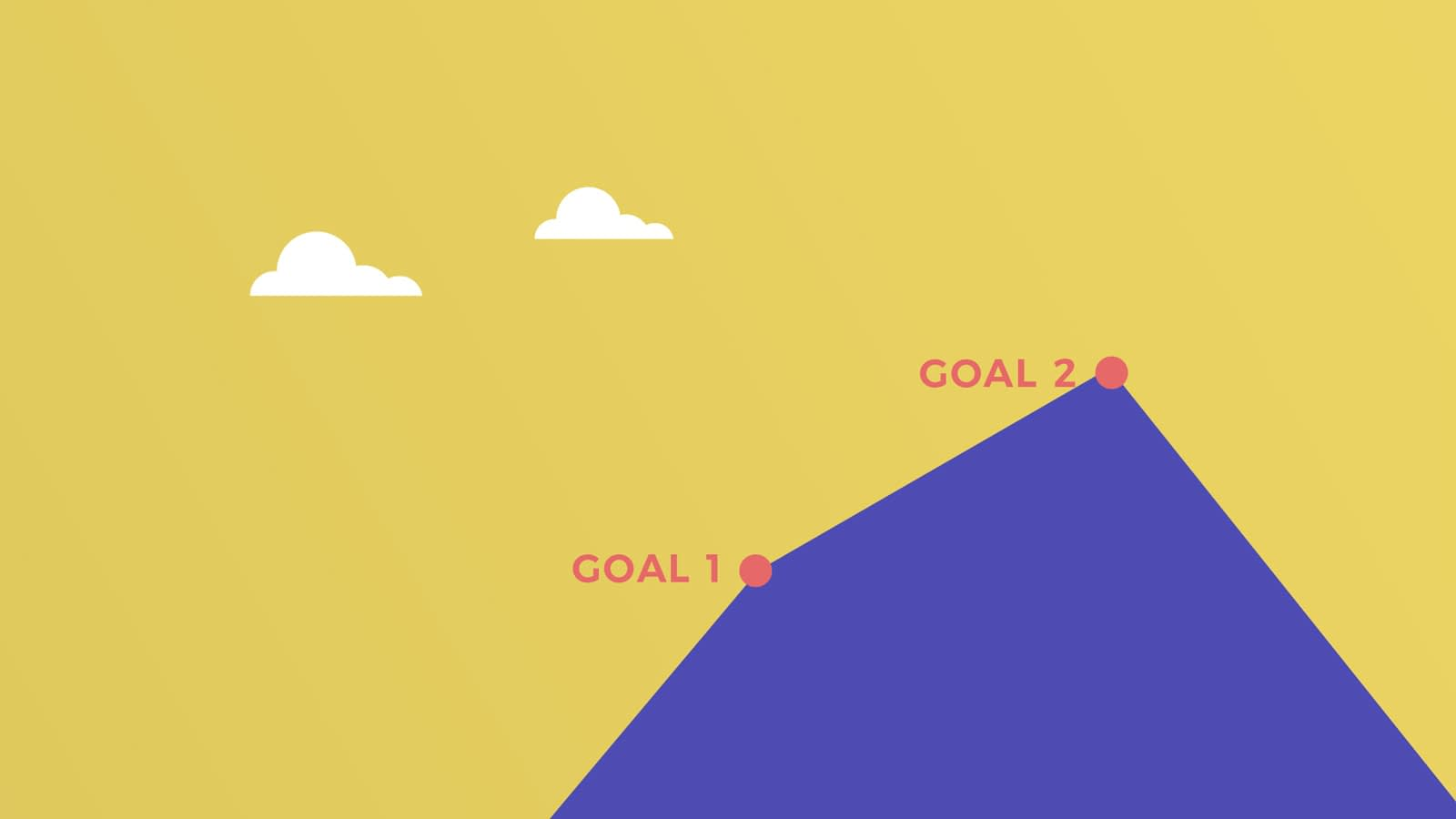 Mountain with 2 goals for a transition to a vegan life