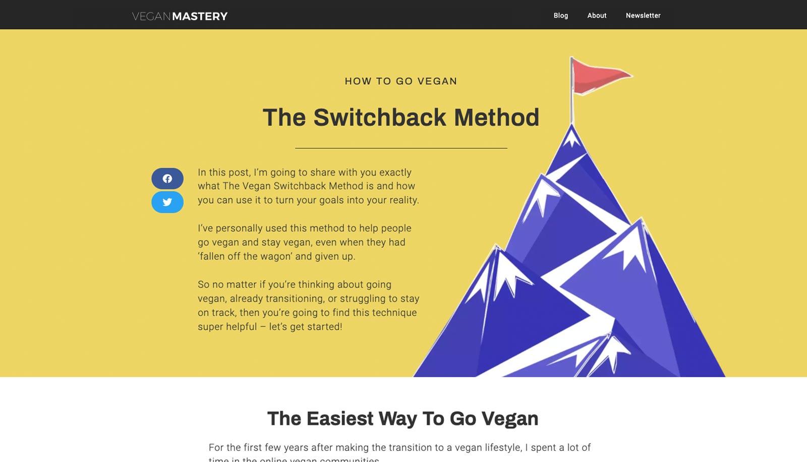 Going vegan has never been so easy with The Vegan Switchback Method - Vegan Mastery