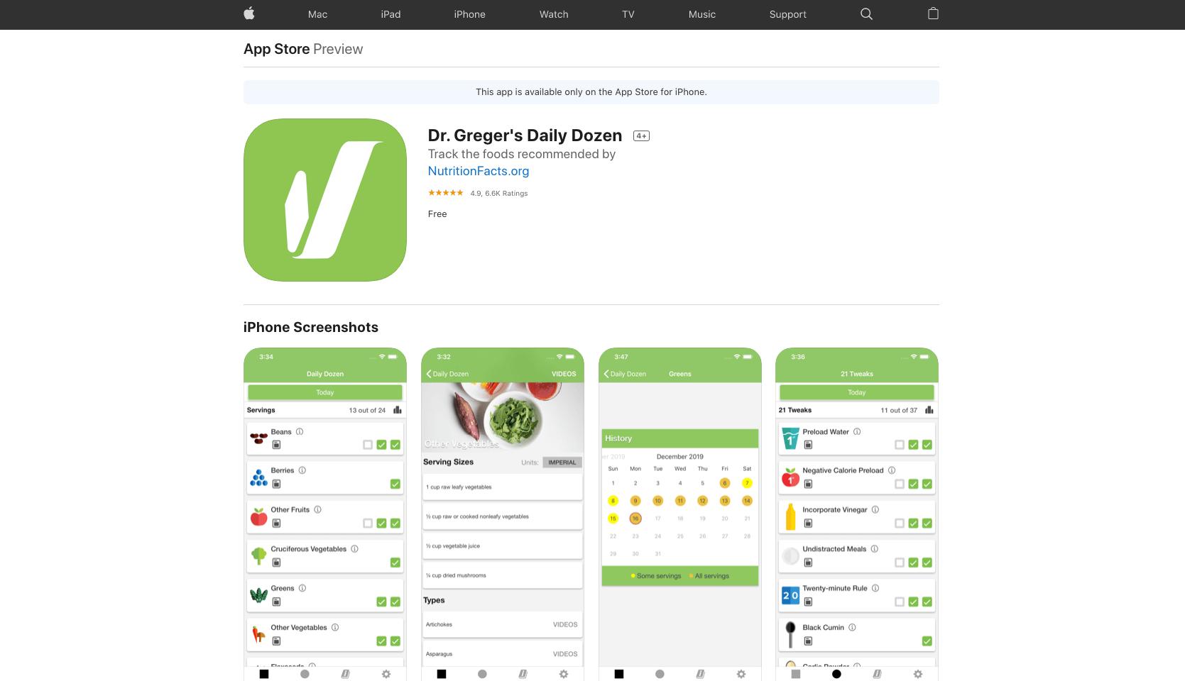 Daily Dozen App - Perfect for going vegan