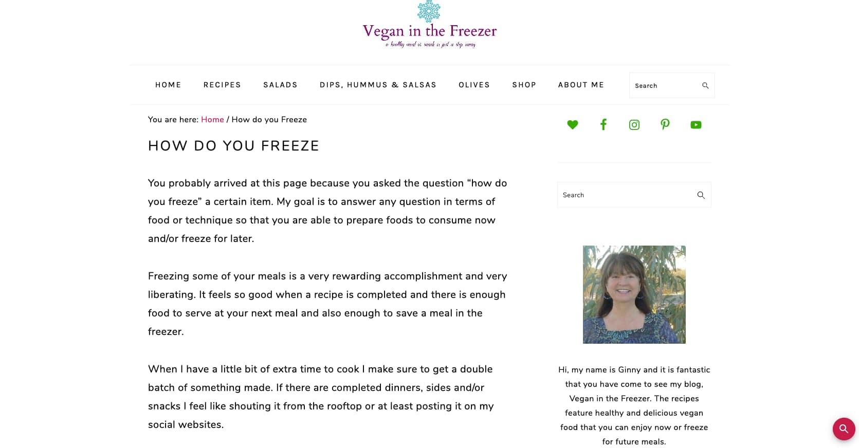 How do you freeze vegan food