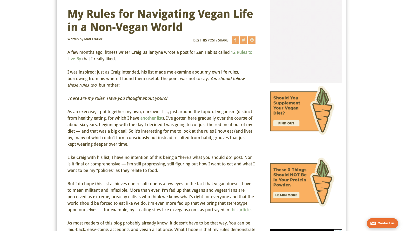 My Rules for Navigating Vegan Life in a Non Vegan World