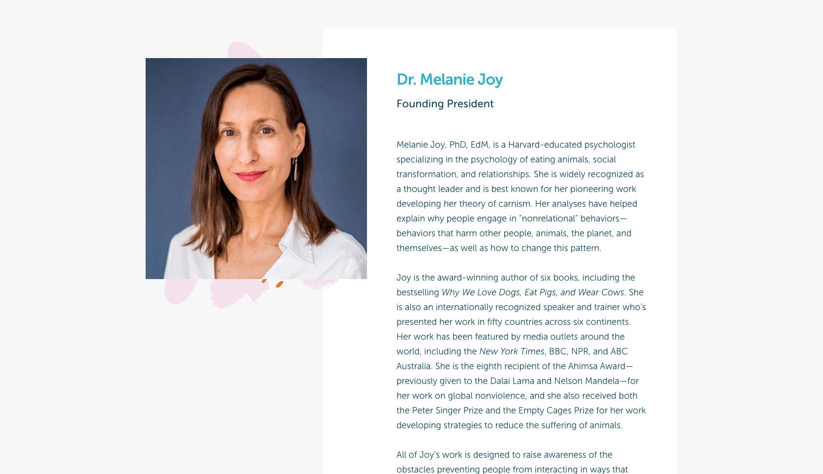 Melanie Joy - Founder of carnism.org