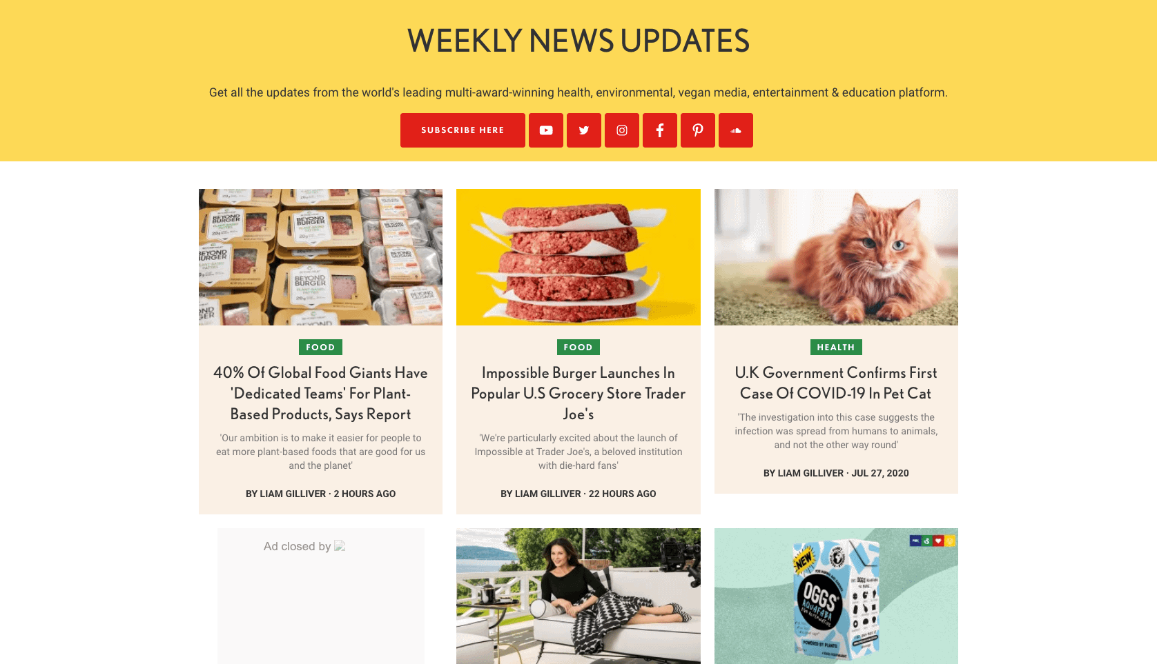 Plant Based News Weekly Newsletter Sign Up